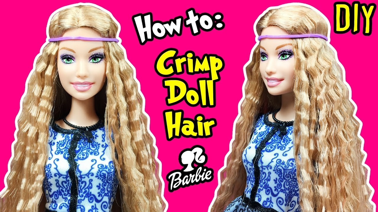 The Best How To Crimp Barbie Doll Hair Diy Barbie Hairstyles Pictures
