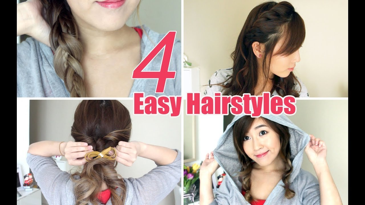 The Best 4 Easy Cute Hairstyles Youtube Pictures
