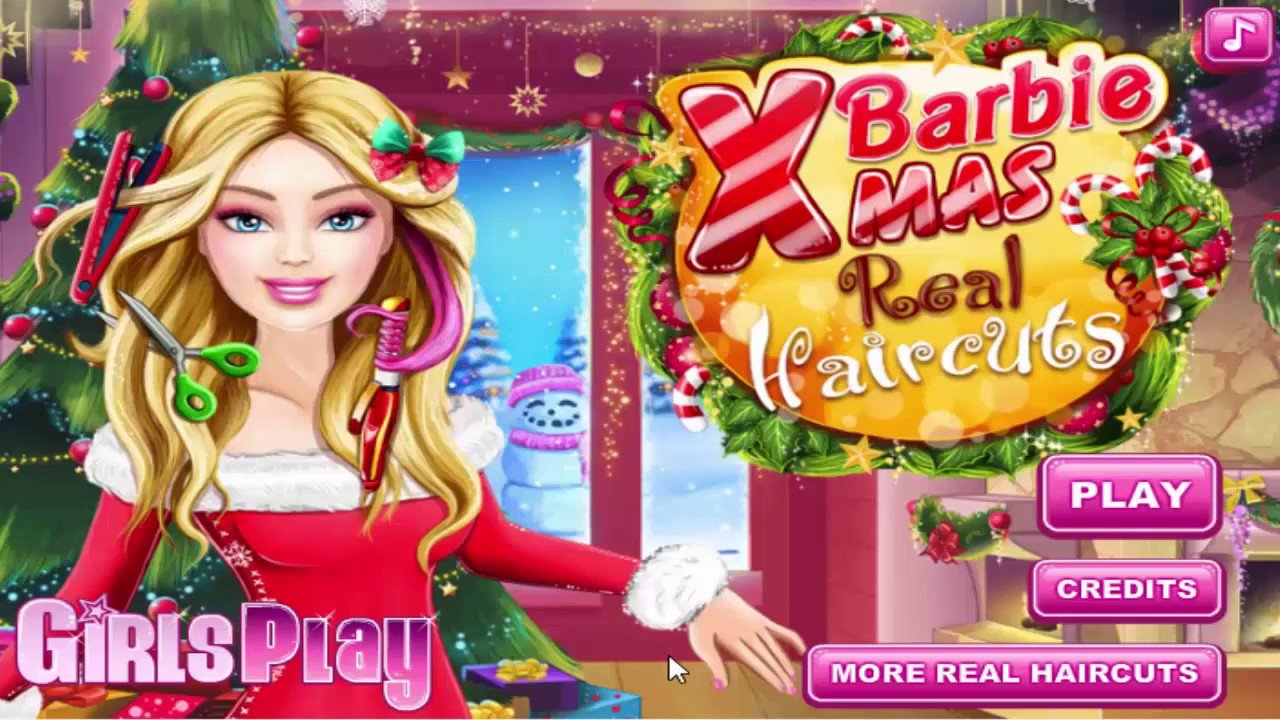 The Best Barbie Xmas Real Haircuts Christmas Game For Girls By Pictures