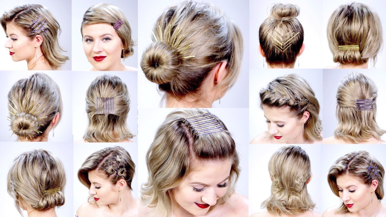 The Best 11 Super Easy Hairstyles With Bobby Pins For Short Hair Pictures