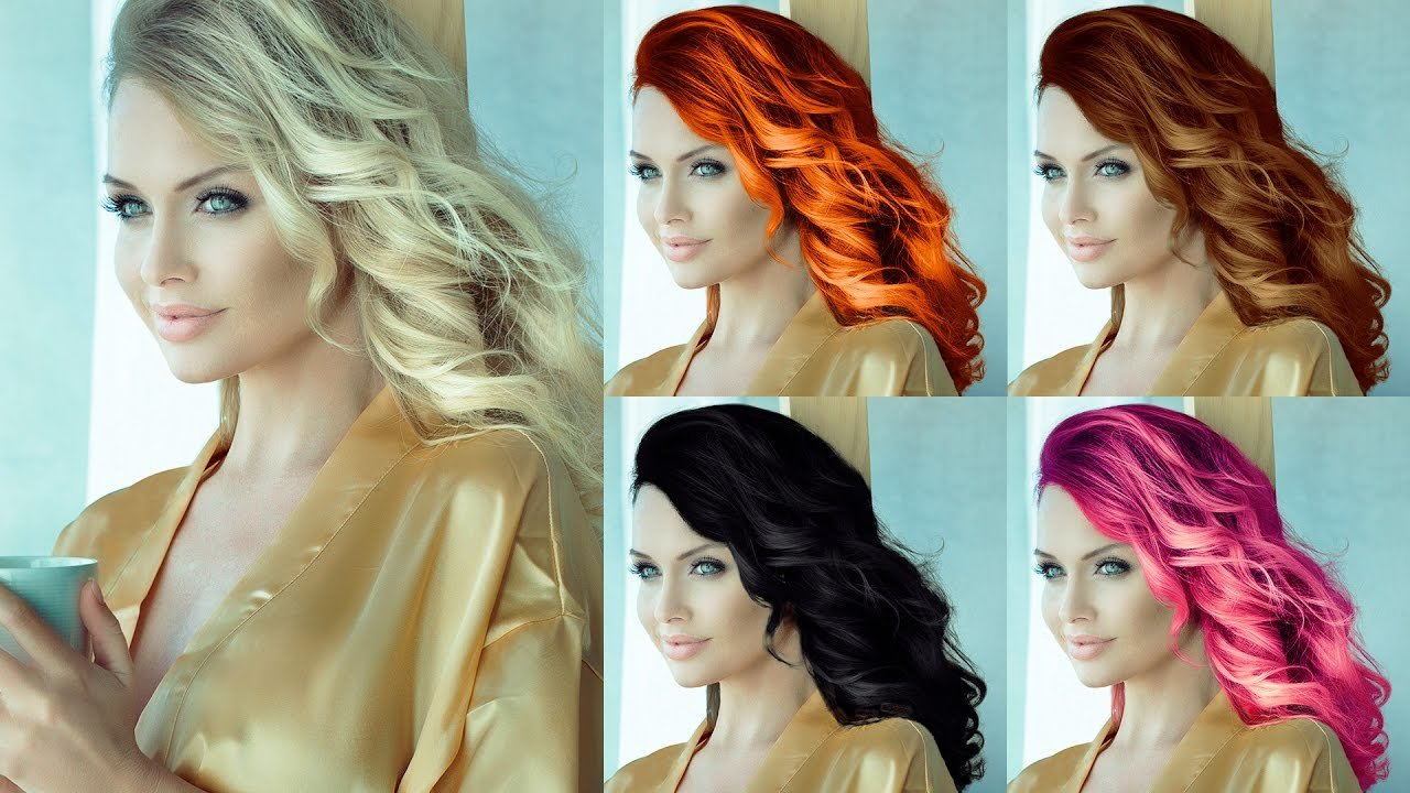 The Best How To Change Hair Color Blonde To Other Colors Photoshop Tutorial Youtube Pictures