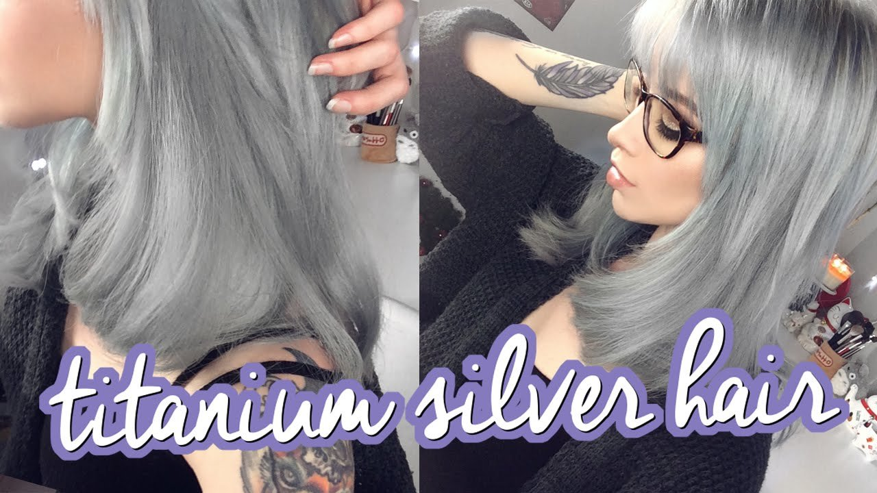 The Best Silver Hair Ion Titanium Results Littleteafox Youtube Pictures