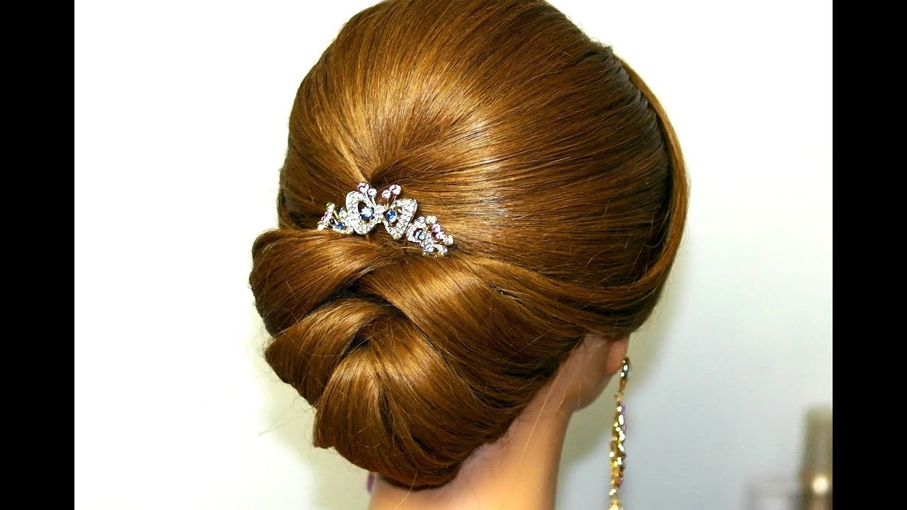 The Best Wedding Hairstyle For Medium Long Hair Bridal Updo Youtube Pictures