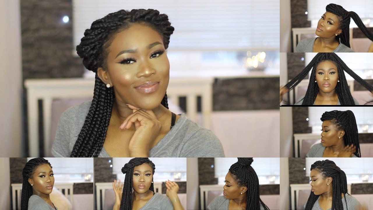 The Best Super Quick Easy Simple Box Braid Styles Youtube Pictures