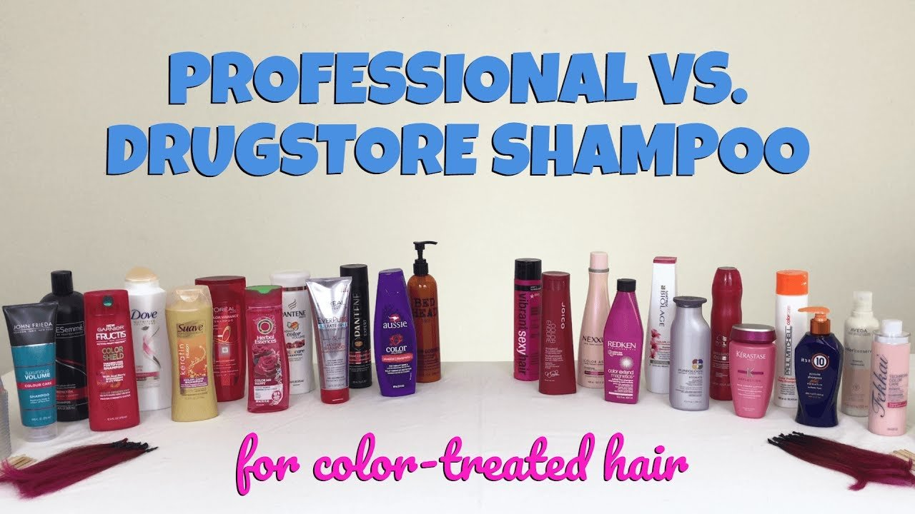 The Best Professional Vs Drugstore The Best Shampoo For Color Treated Hair 22 Brands Tested Youtube Pictures