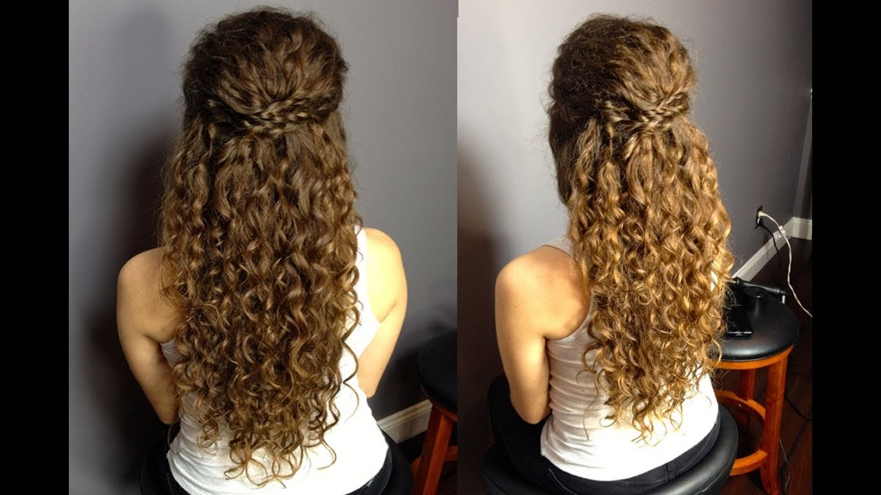 The Best Half Up Half Down Updo For Naturally Curly Hair Easy Pictures