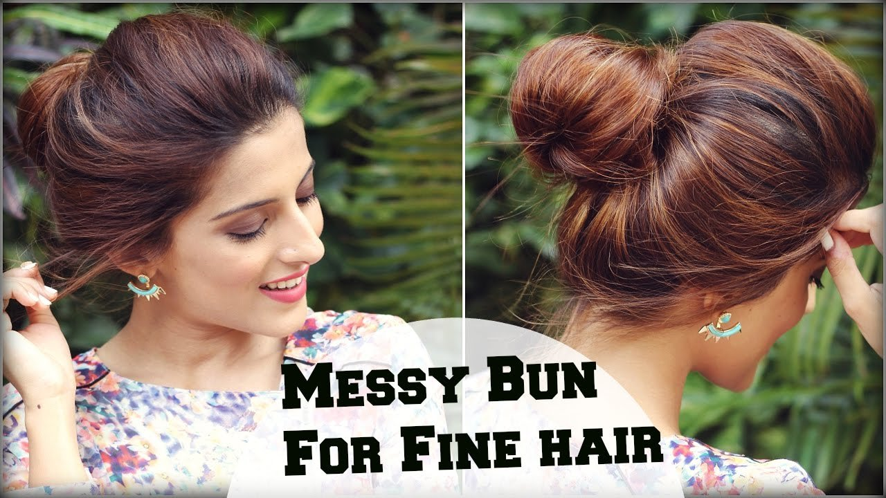 The Best 2 Min Easy Everyday Top Messy Bun Hairstyle For Fine Pictures