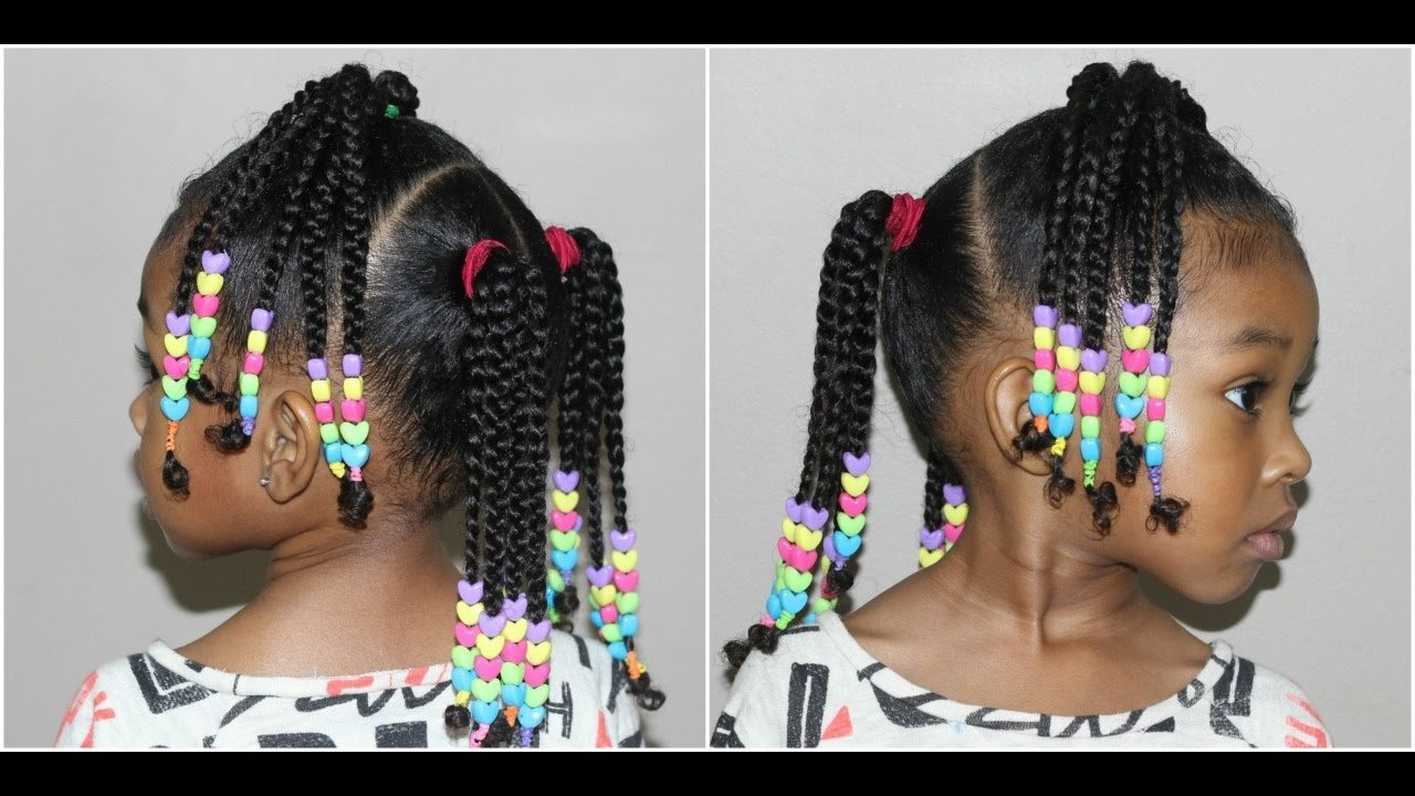 The Best Kids Braided Hairstyle With Beads Cute Hairstyles For Pictures