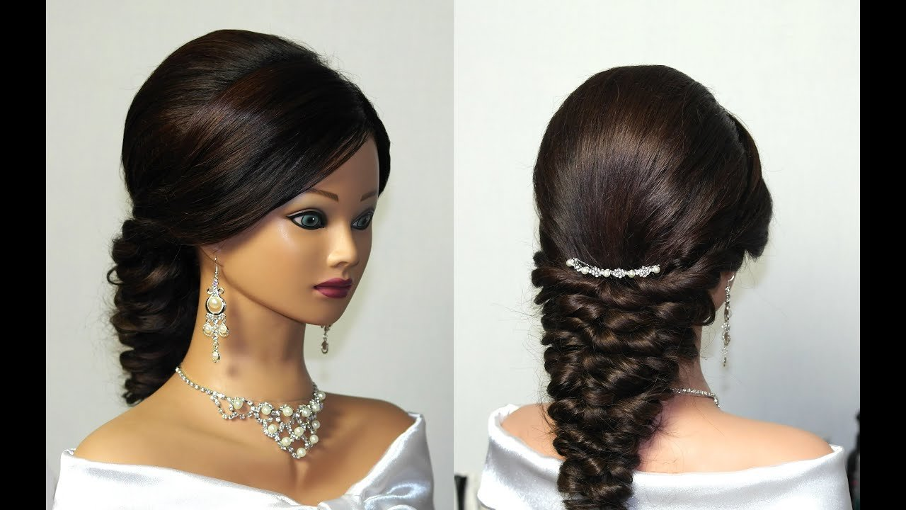 The Best Wedding Prom Mermaid Hairstyle For Long Hair Youtube Pictures