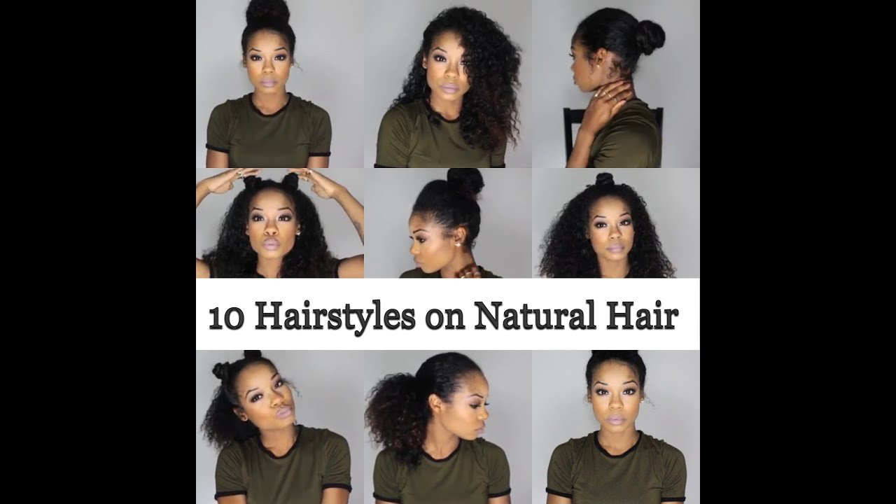 The Best 10 Quick And Easy Hairstyles On Natural Hair 3B 3C Youtube Pictures
