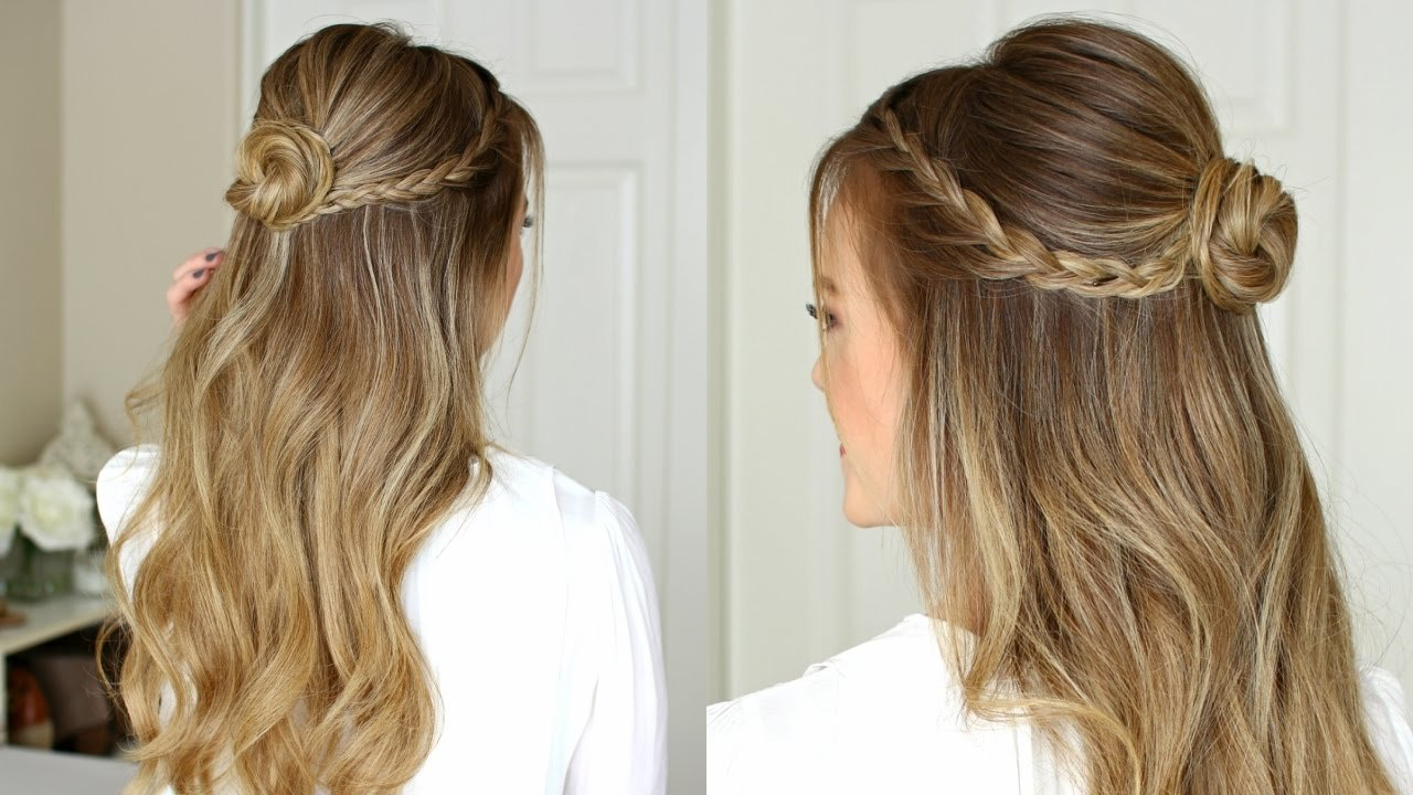 The Best Easy Half Up Prom Hairstyle Missy Sue Youtube Pictures