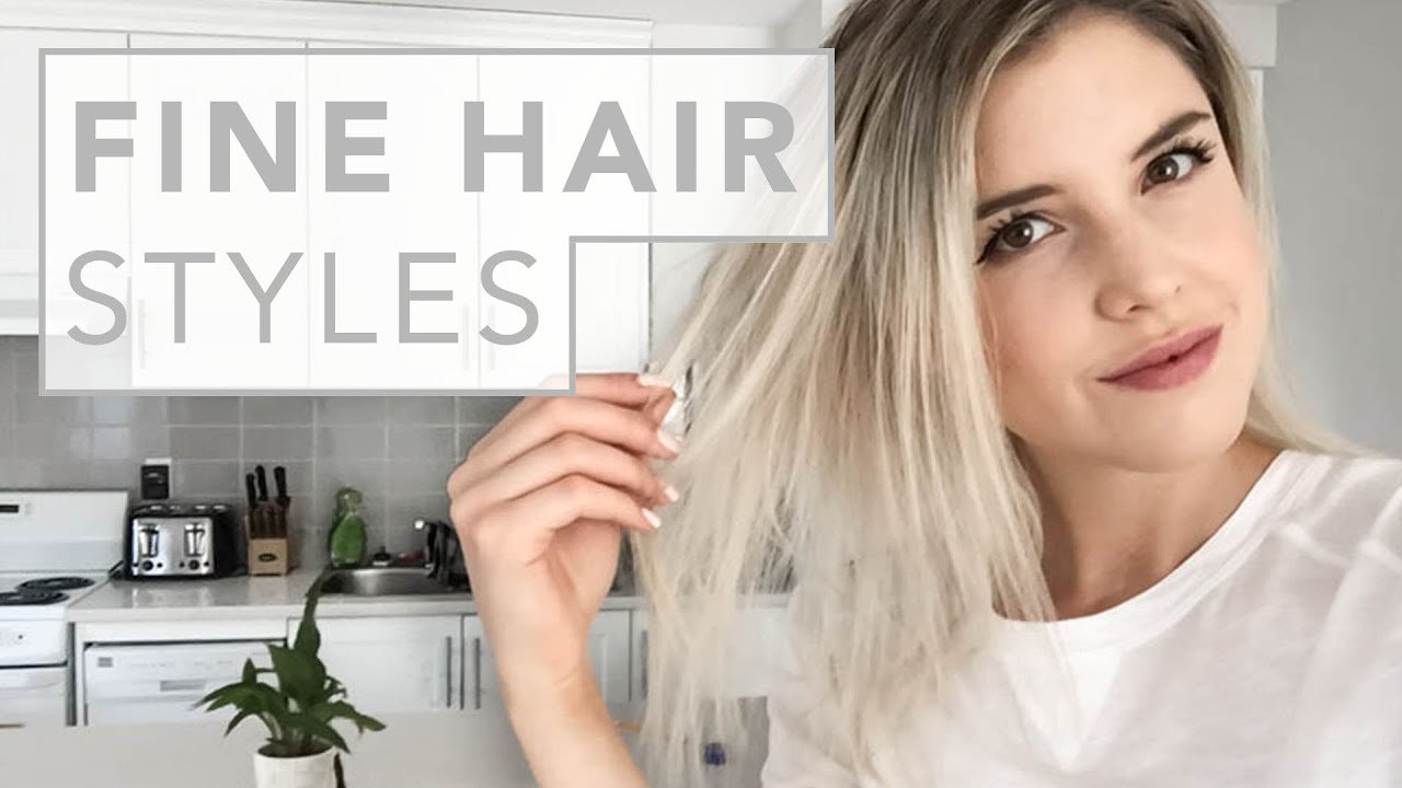 The Best Hair Hacks For Fine And Thin Hair Youtube Pictures