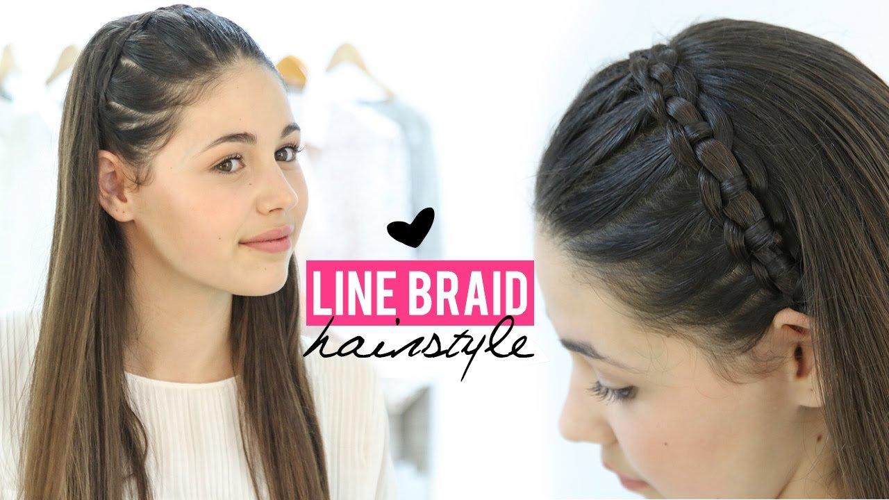 The Best Line Braid Hairstyle Tutorial Step By Step Youtube Pictures
