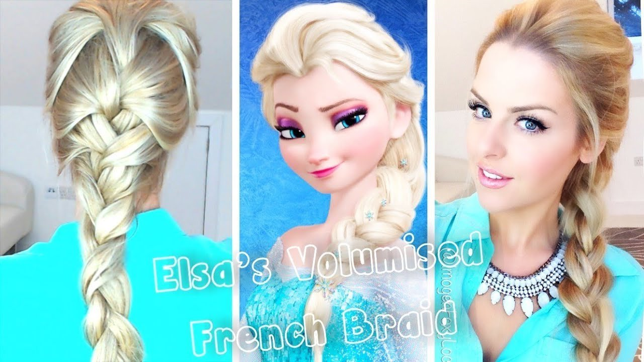The Best Volumised French Braid Hair Tutorial Frozen Elsa Youtube Pictures