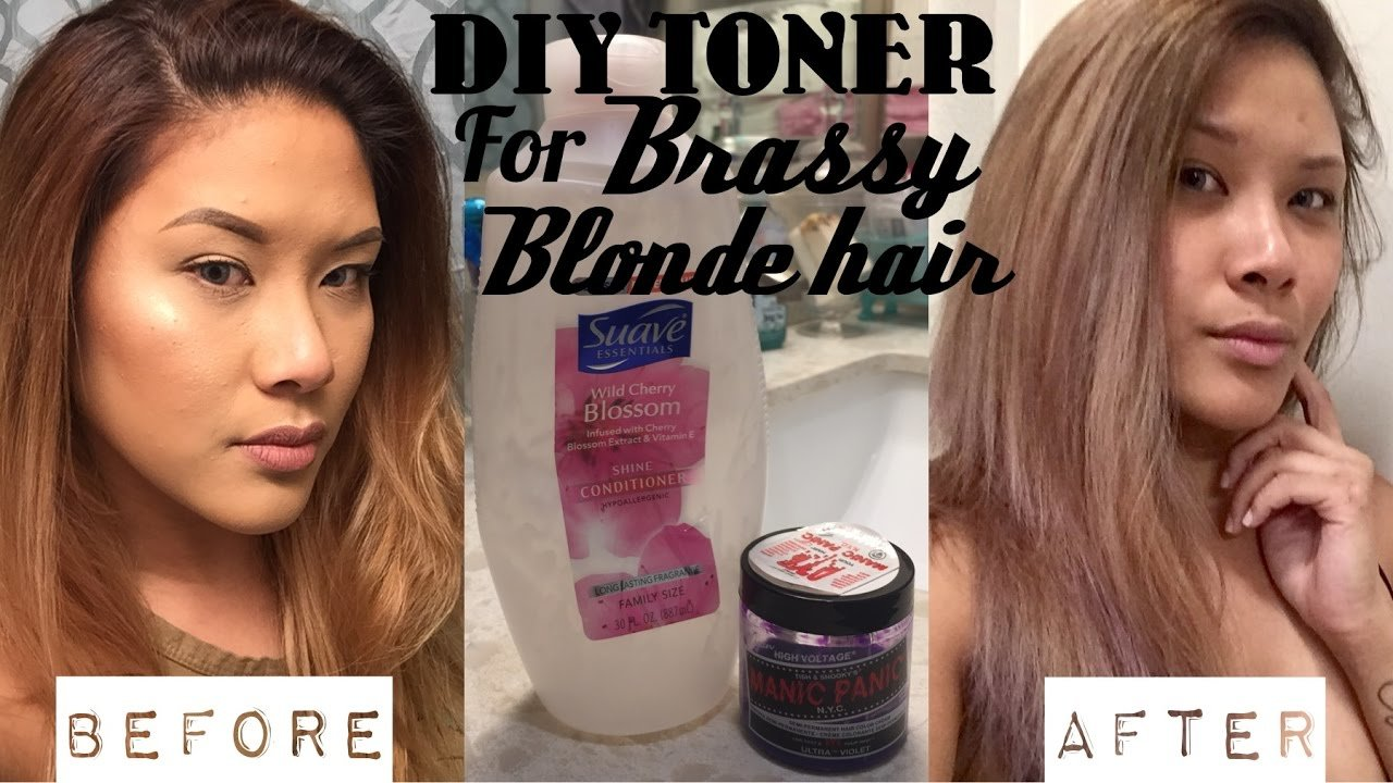 The Best Diy Hair Toner For Brassy Blonde Hair Demo Shereezyxo Pictures