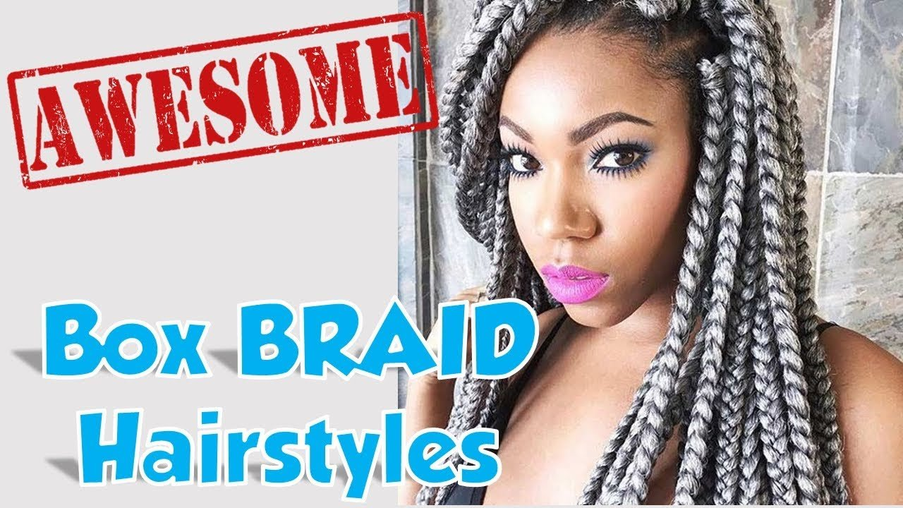 The Best Cute Simple Easy Big Box Braids Hairstyles For Girl Female Pictures