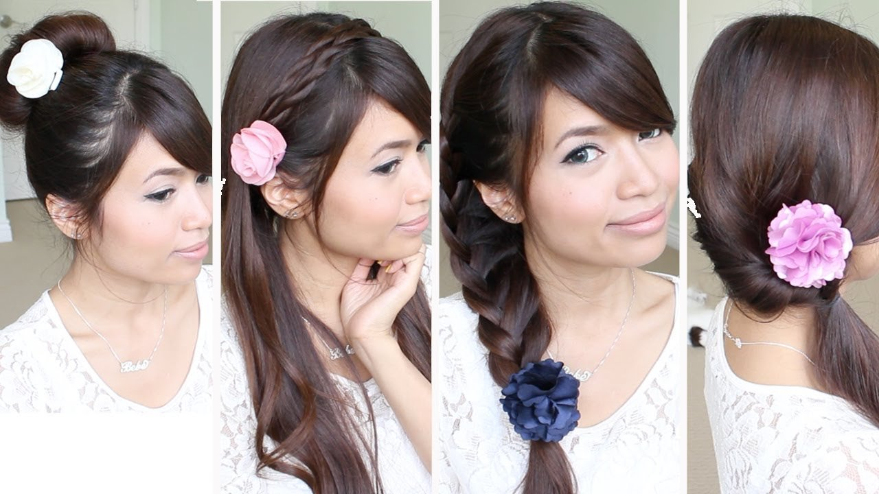 The Best Quick Easy Back To School Hairstyles For Medium Long Hair Tutorial Youtube Pictures