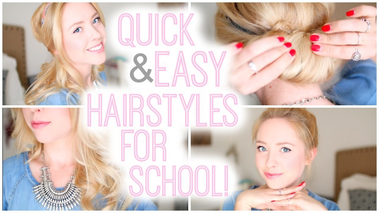 The Best Quick And Easy Hairstyles For School 2015 Youtube Pictures