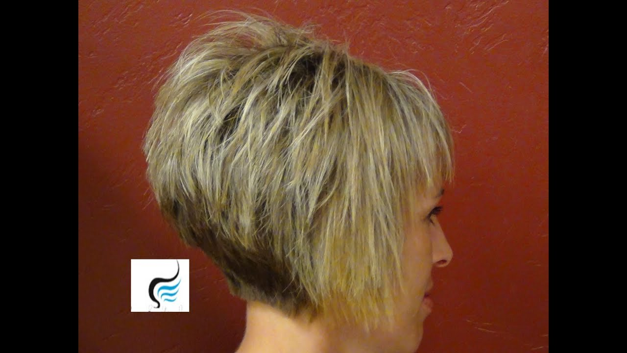 The Best How To Do A Short Stacked Haircut With Straight Bangs Girl Hairstyles Youtube Pictures