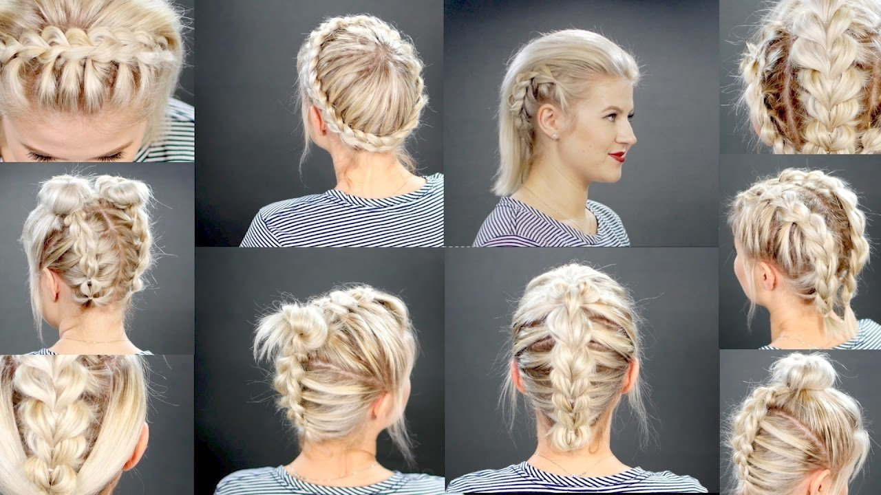 The Best 10 Faux Braided Short Hairstyles Tutorial Milabu Youtube Pictures