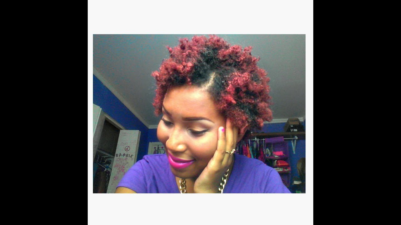 The Best Colored My Natural Hair Red Burgundy Without Using Youtube Pictures