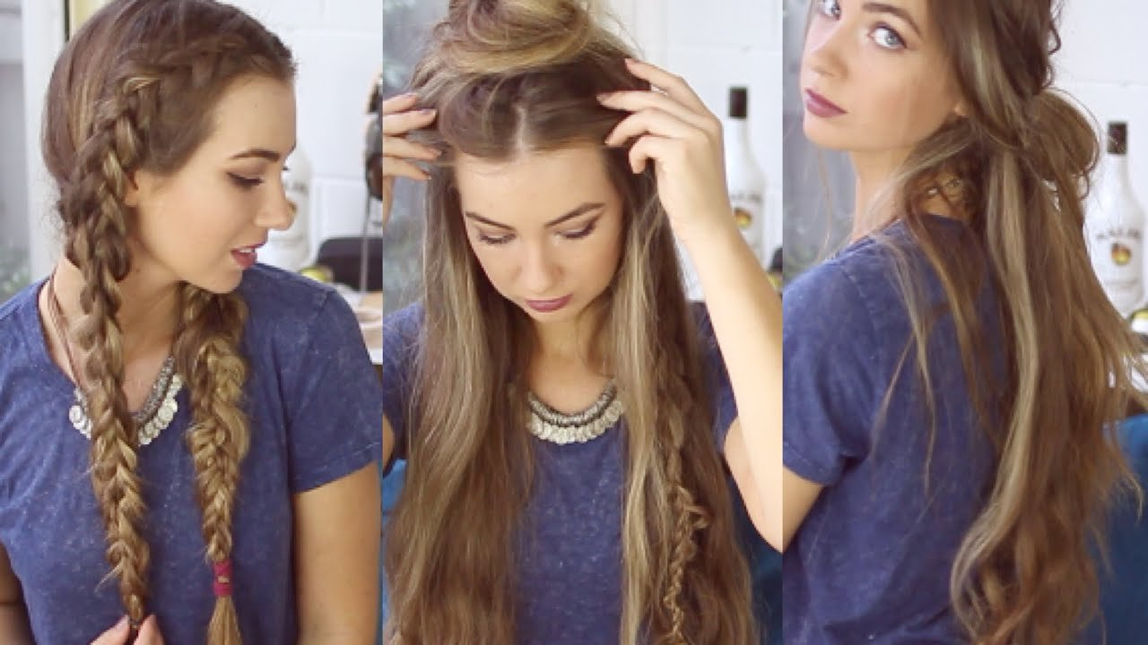 The Best 3 Quick And Easy Boho Hairstyles Cute Heatless Pictures