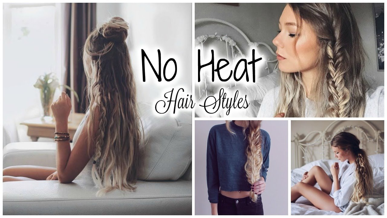 The Best 5 Minute No Heat Hairstyles Quick Easy Youtube Pictures