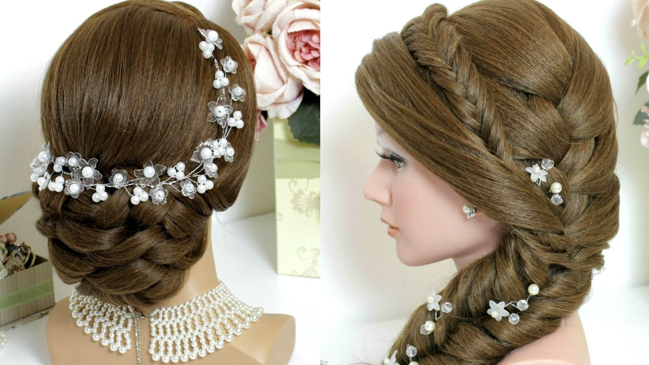 The Best 2 Hairstyles For Long Hair Tutorial Bridal Updo Mermaid Pictures