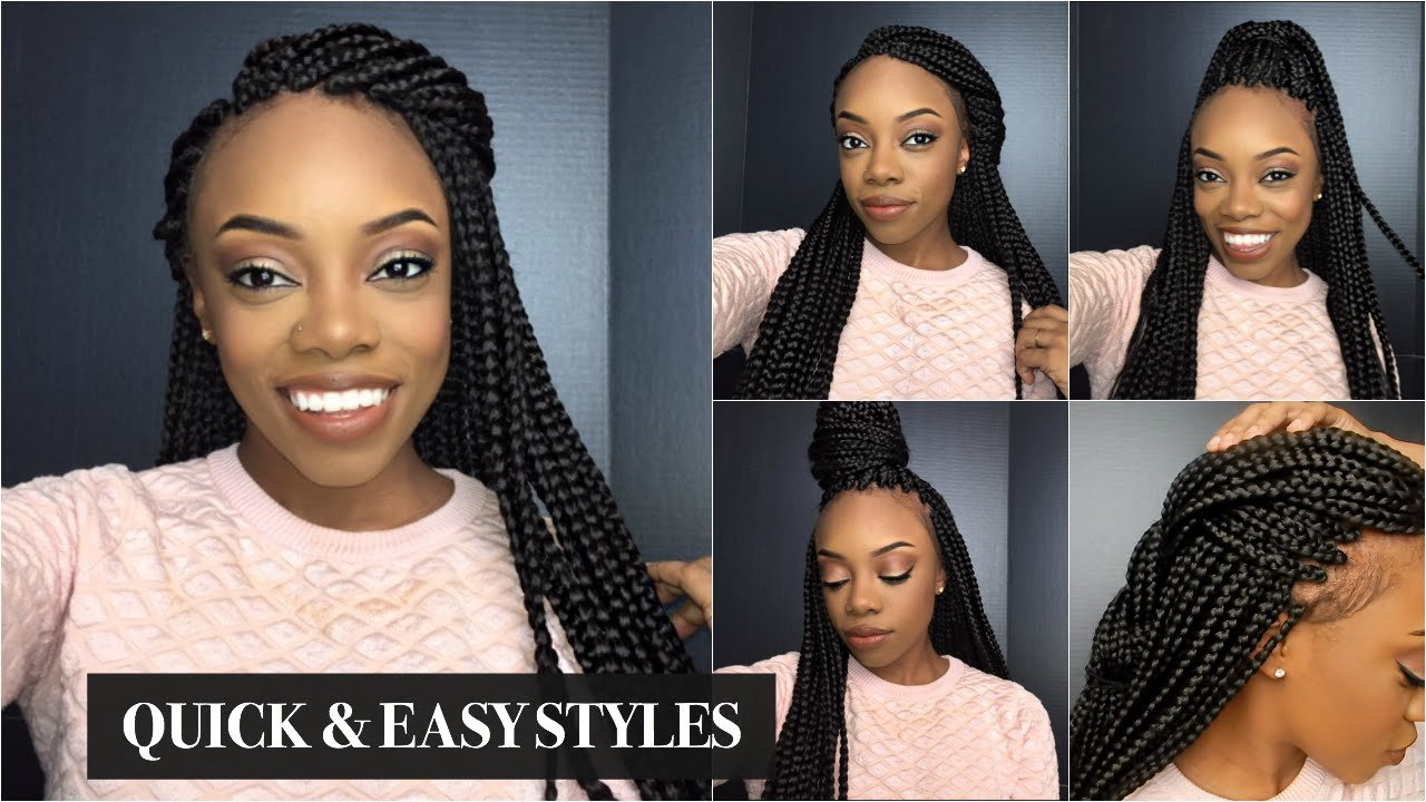 The Best Box Braids Quick Easy Styles Just Ana Youtube Pictures