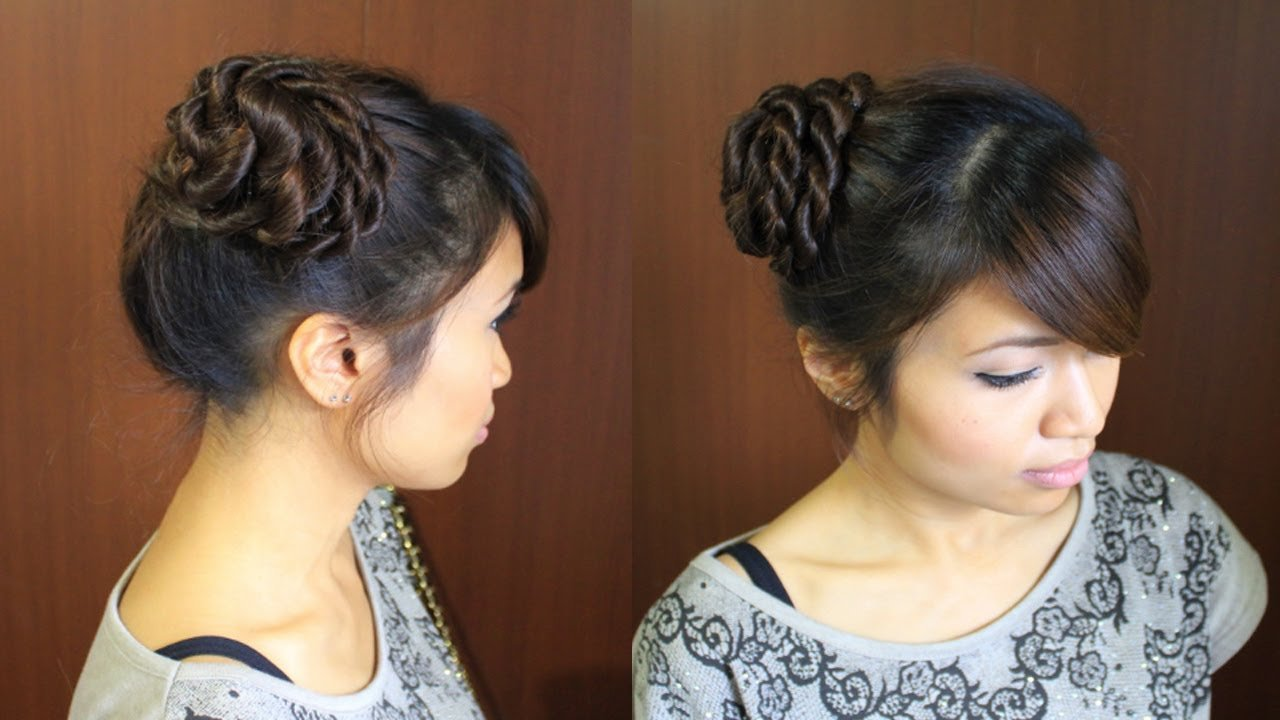 The Best Ballerina Rope Braid Hair Bun Updo Hairstyle For Long Hair Pictures