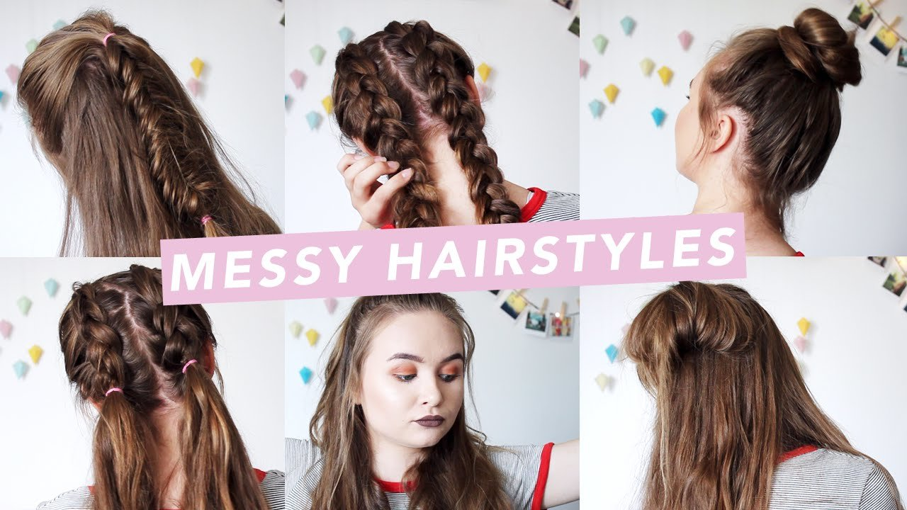 The Best 6 Messy Hairstyles For Bad Hair Days •♦• Youtube Pictures