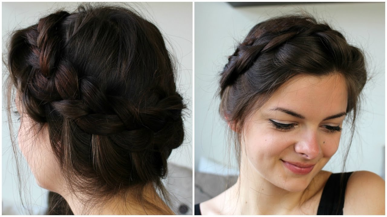 The Best Messy Crown Braid Youtube Pictures