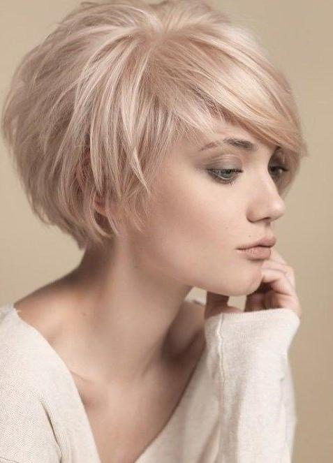 The Best 2019 Latest Short Feminine Hairstyles For Fine Hair Pictures