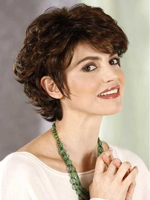 The Best 2019 Popular Short Haircuts For Round Faces With Curly Hair Pictures