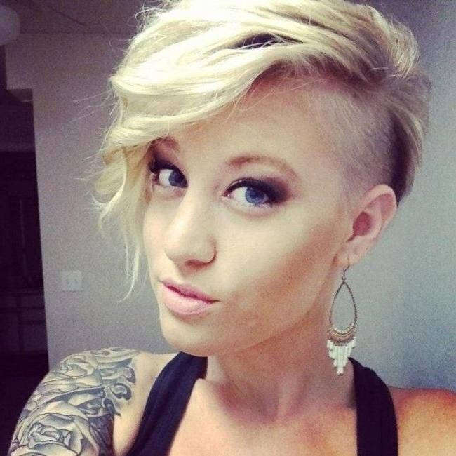 The Best 2019 Popular Short Hairstyles One Side Shaved Pictures