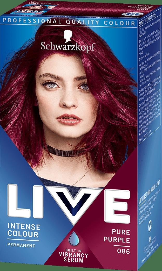 The Best 086 Pure Purple Hair Dye By Live Live Colour Hair Dye Pictures