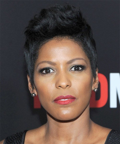 The Best Tamron Hall Casual Short Straight Hairstyle Ash Hair Color Pictures