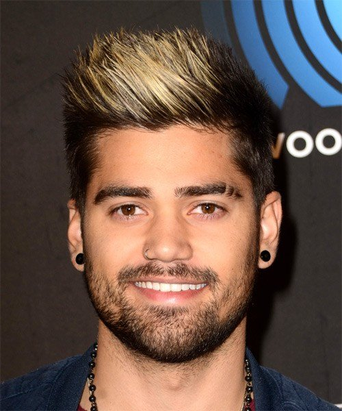 The Best Rajiv Dhall Alternative Short Straight Hairstyle Black And Light Blonde Two Tone Hair Color Pictures