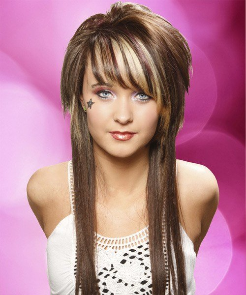 The Best Alternative Long Straight Hairstyle With Side Swept Bangs Chocolate Brunette Hair Color With Pictures