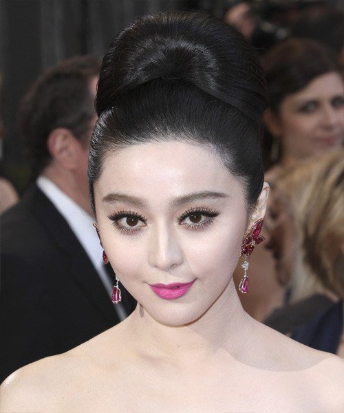 The Best Fan Bingbing Formal Long Straight Updo Hairstyle Black Pictures