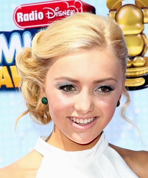 The Best Peyton List Formal Long Curly Updo Hairstyle Light Honey Pictures