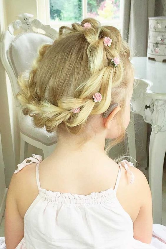The Best 35 Cute Fancy Flower Girl Hairstyles For Every Wedding Pictures