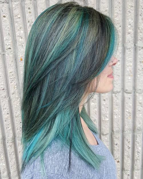 The Best 20 Fresh Teal Hair Color Ideas For Blondes And Brunettes Pictures