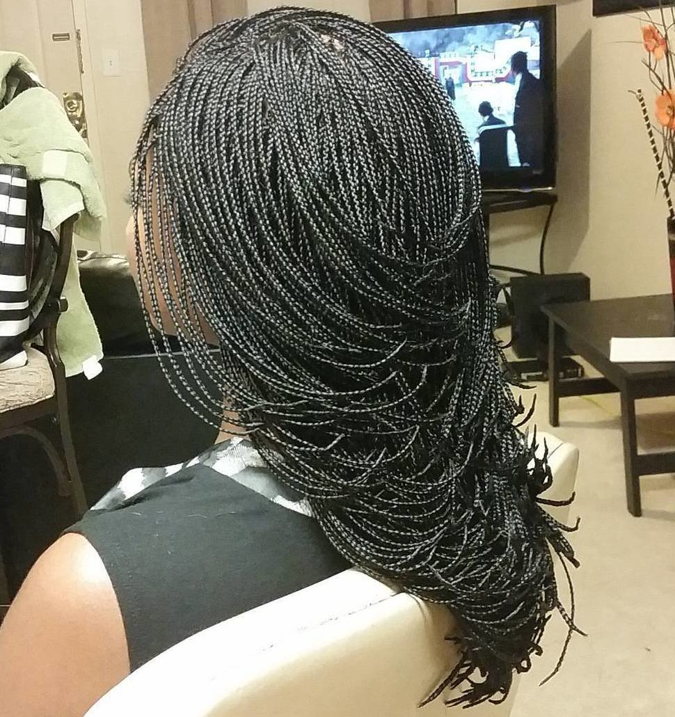 The Best 40 Ideas Of Micro Braids Invisible Braids And Micro Twists Pictures