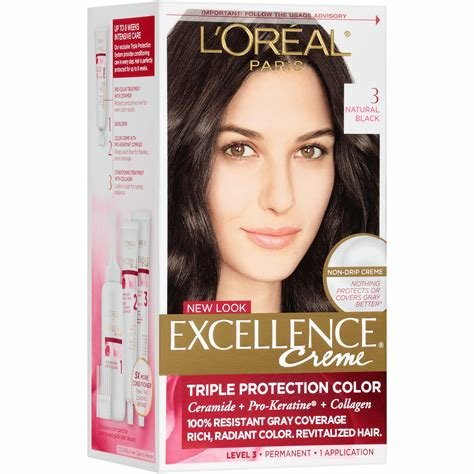 The Best Amazon Com L Oreal Healthy Look Creme Gloss Hair Color 1 Rich Black Double Espresso Pictures