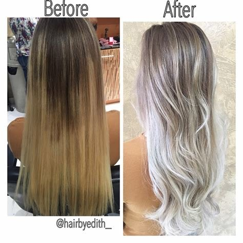 The Best Color Correction Spotty Blonde To Lovely Violet Ash Pictures