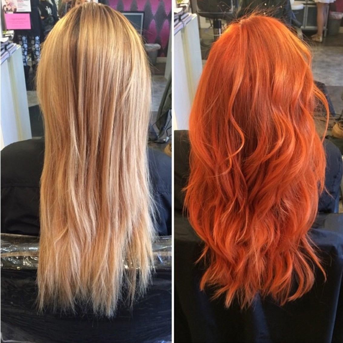 The Best Transformation Fiery Golden Copper Career Modern Salon Pictures