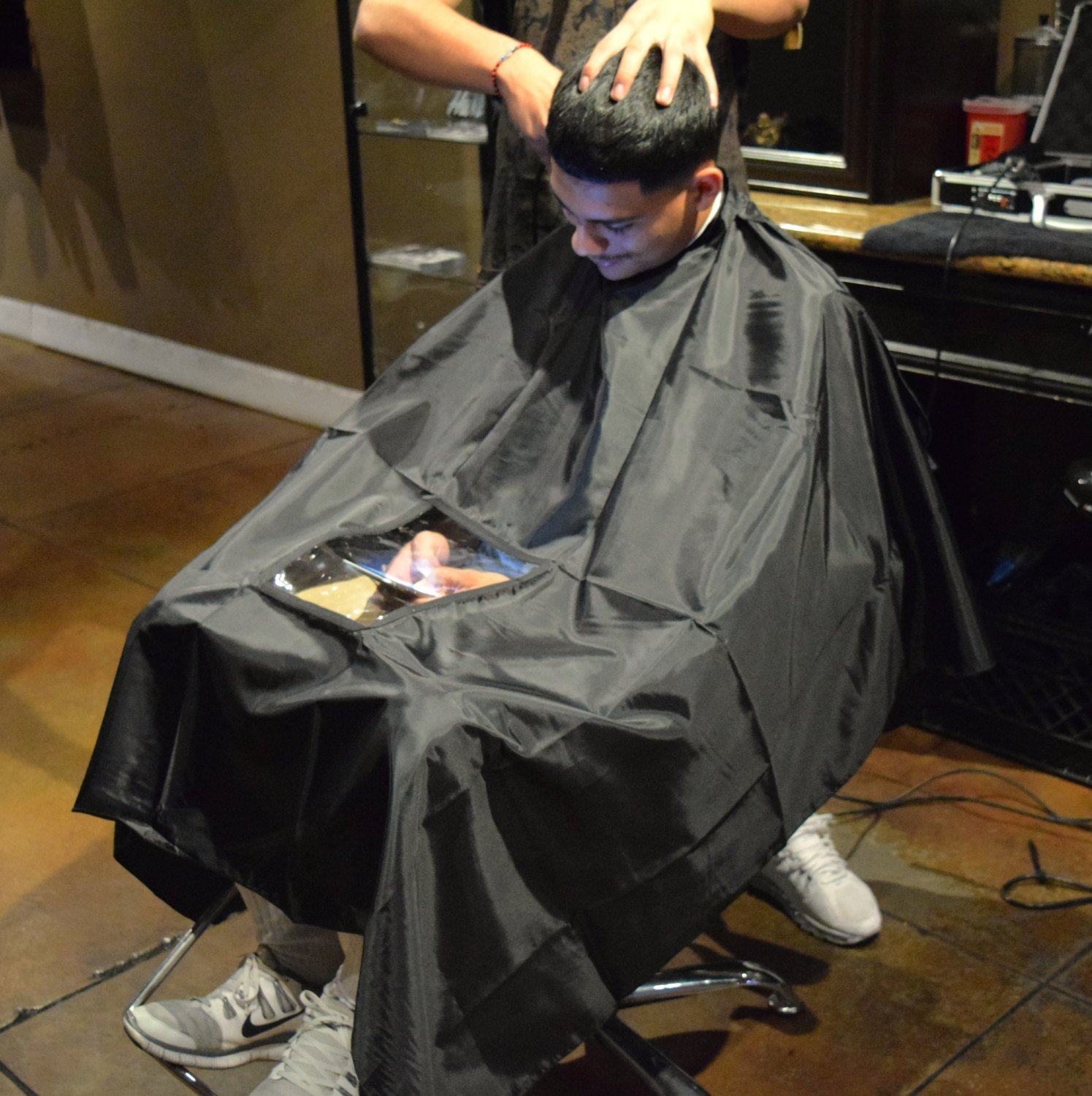 The Best Black Hair Cutting Cape Hairdresser Barber Gown Stylist Pictures