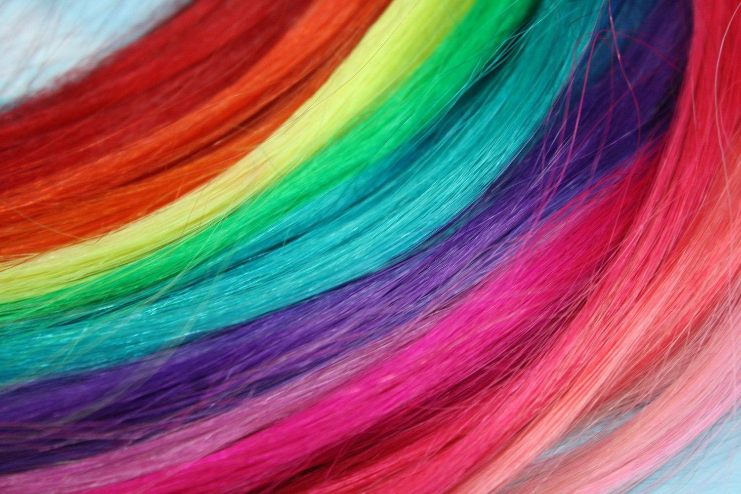 The Best Rainbow Colored Human Hair Extensions Colored Hair Extension Pictures