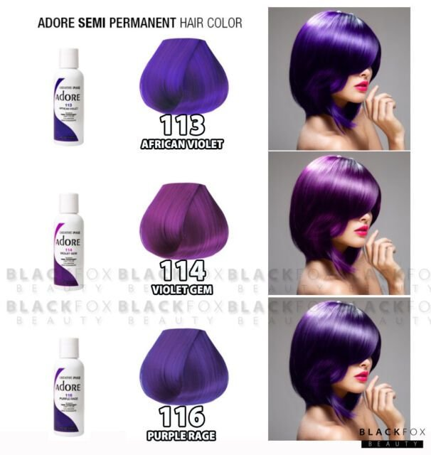 The Best Creative Image Adore Semi Permanent Hair Color 113 African Violet 4Oz Ebay Pictures